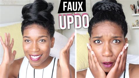 natural hair after five styles the faux updo 2 ways natural hair psa naptural85 youtube