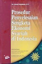 Penyelesaian Sengketa Ekonomi Syariah Ori toko buku rahma prosedur penyelesaian sengketa ekonomi syariah di indonesia