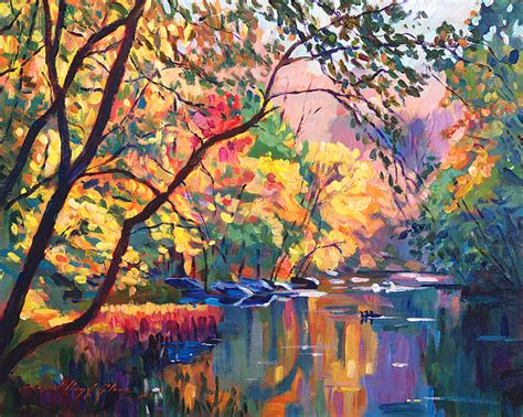 color reflections color reflections plein aire painting by david lloyd