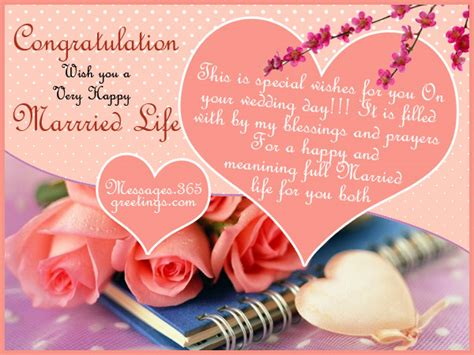 Wedding Blessing Message In by Wedding Wishes And Messages 365greetings