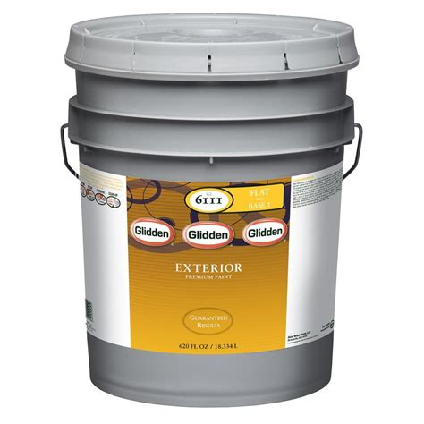 5 gallon exterior paint prices glidden premium 5 gal flat exterior paint gl6112 05