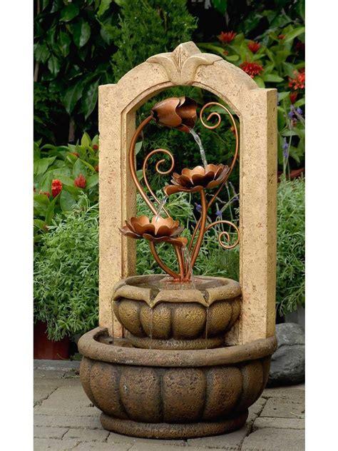 classical outdoorindoor water fountain  metal flower
