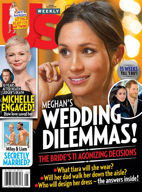 Us Weekly Goes Bald On This Weeks Cover by Meghan Markle Has Chosen A Wedding Dress Designer