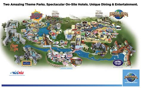 universal studios orlando map theme park maps magical distractions