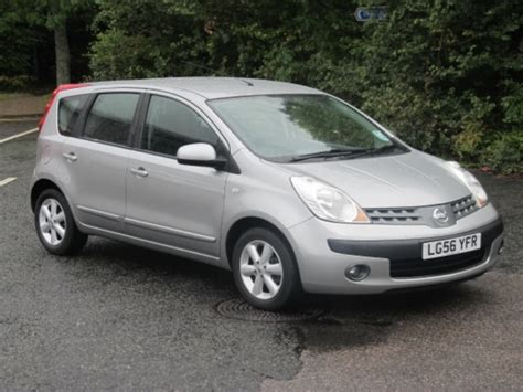 nissan note 2006 used nissan note car 2006 silver petrol for sale in epsom