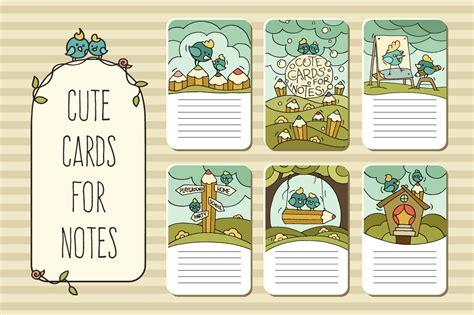 Cute Printable Cards For Notes Card Templates Creative