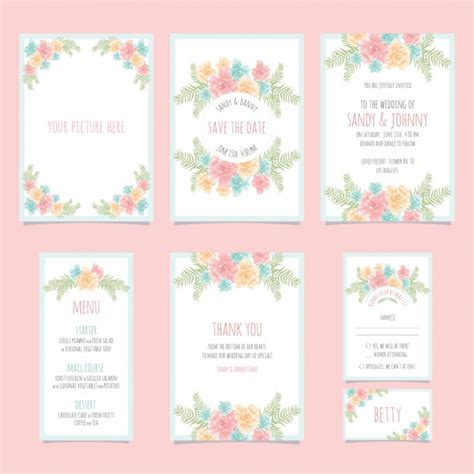 Wedding Stationery Design by Wedding Stationery Design Vector Free