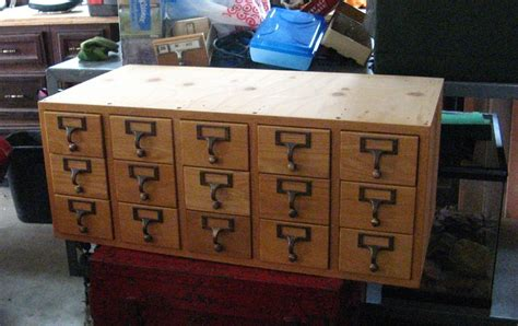 Library Index Drawers by Vintage Library 3x5 Quot Index Card Catalog 15 Drawer Cabinet