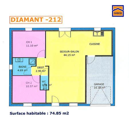 Plan De Maison Simple 3 Chambres En Tunisie by Maison 2 Chambres Plan Immobilier Pour Tous Immobilier