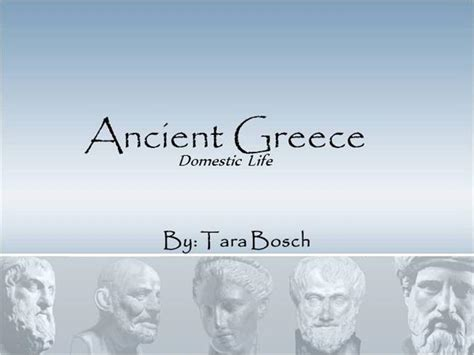 ancient greece civilization domestic life authorstream