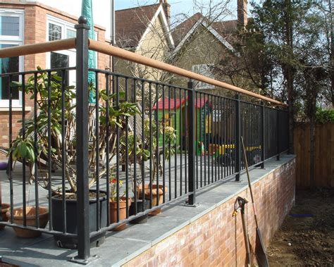 Patio Railing Glasson Metalworks Steel Fabricators 01707 262662