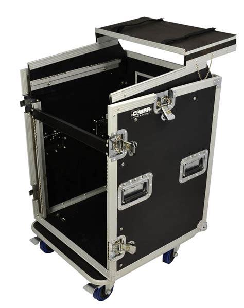 10u Rack by Cobra 12u 10u Rack With Laptop Shelf Flight Tour Cases