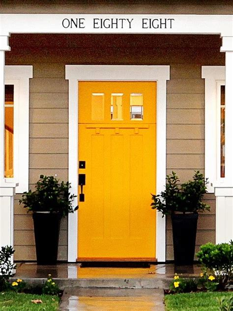 mustard front door 17 best images about house exteriors on pinterest