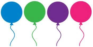 Clip Art Birthday Balloons
