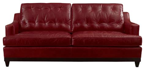 Leather Button Back Sofa Button Back Leather Sofa Sofas By Leathercraft Inc