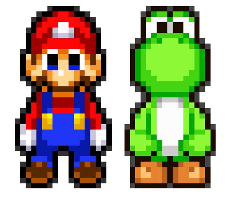 pixel character 6 yoshi by meowmixkitty on deviantart mlss mario and mlss yoshi size test by heiseigoji91 on