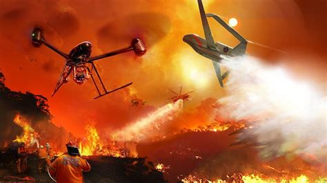 fire fighting drone firefighting drones could do the dangerous work the