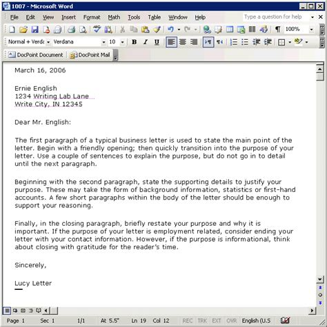 tutorial creating business letter template