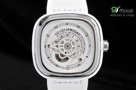 Jam Tanhan Seven Friday Ring Silver sevenfriday p1 02 white rubber 47mm