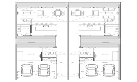 house plans for small lots duplex plans for small lots narrow lot duplex house plans