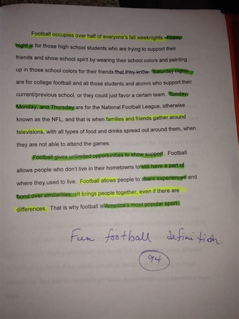 Soccer Essays by Football Definition Essay Best Essay