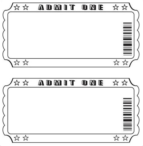 editable ticket template free best template exles