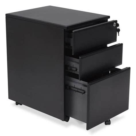 caisson bureau metal caisson de bureau design 3 tiroirs mathias en m 233 tal noir