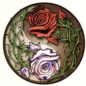yin yang designs yin yang roses temporary