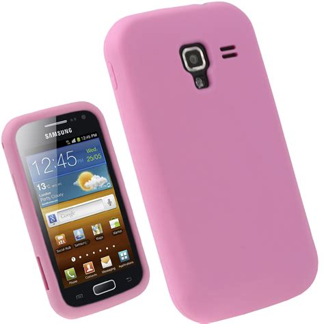 Casing Samsung Ace 2 igadgitz pink silicone skin cover for samsung galaxy
