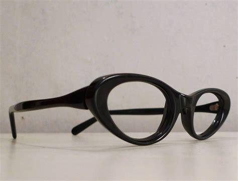 black cats eyeglass frames titmus cat eye horn by bibbysrocket