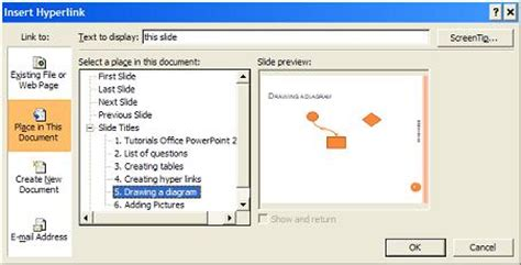 tutorial hyperlink powerpoint 2007 pdf windows tools powerpoint adding hyperlinks connecting to