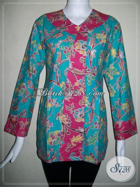 baju batik wanita kombinasi warna hijau  merahbatik