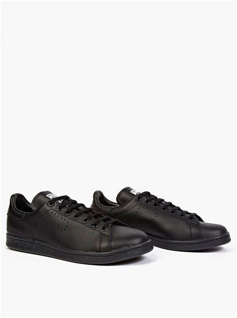 raf simons shoes all black adidas by raf simons black stan smith sneakers