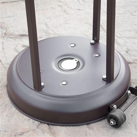 48 000 Btu Outdoor Propane Patio Heater Lp Gas With Patio Heater Wheels
