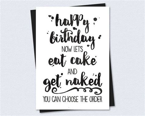 Printable Birthday Cards For Boyfriend Printable Birthday Card Let S Eat Cake And Get Naked
