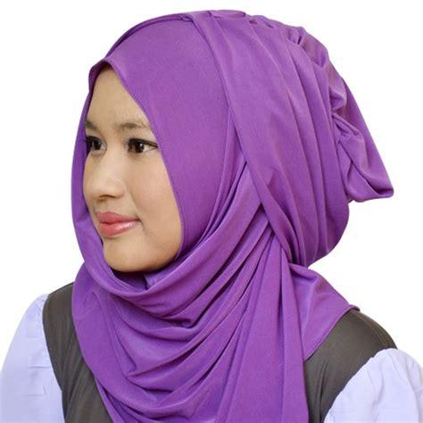 Kerudung Langsung Dinomarket 174 Kerudung Langsung Hana Polos Purple