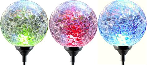 solar led light for globes solar gazing globe balls lighted outdoor color changing