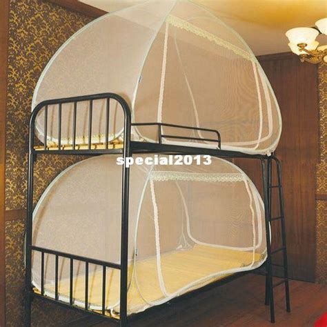 bunk bed fan mini house automatic folding mosquito net student single