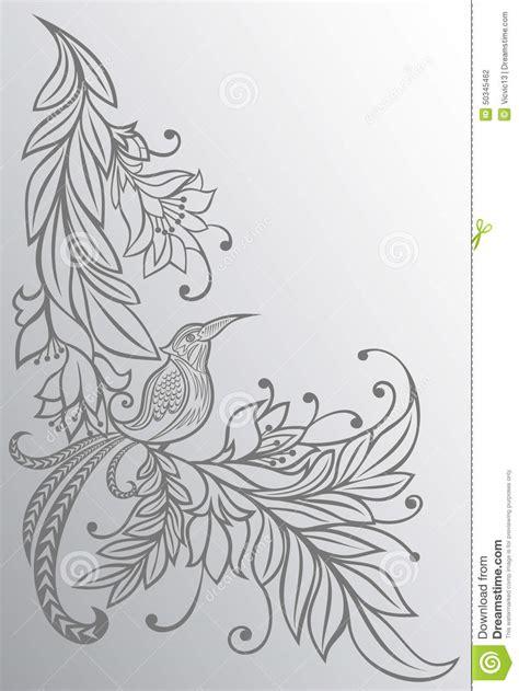doodle dawg sketch draw color oiseau sur une branche fond naturel dessin au crayon