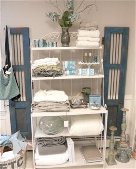 bakers rack in bathroom bakers rack bath and body and vintage turquoise on pinterest