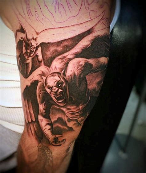 angel demon tattoos for men 90 tattoos for devilish exterior design ideas