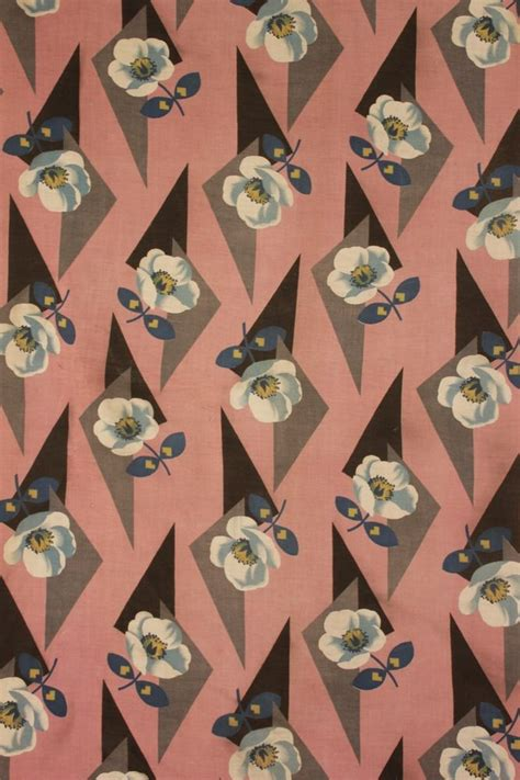 Art Pattern Fabric | art deco fabric 1920 s 1930 s pink floral material