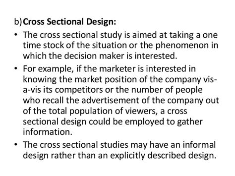 cross sectional study design exles research design