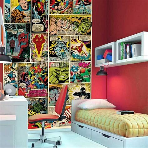 superhero wallpaper for bedroom marvel boys bedroom superhero themed boys bedroom pinterest boys boy bedrooms and marvel