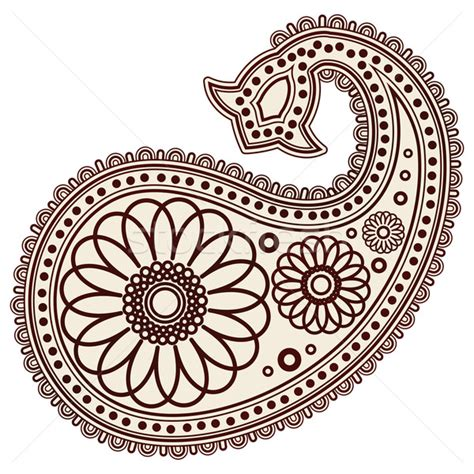 henna pattern vector vector hand drawn abstract henna mehndi paisley doodle