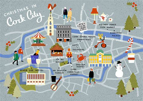 Calendar Shop Dublin Cork City At An Illustrated Guide Map The