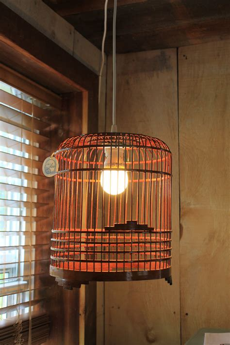 Upcycled Light Fixtures Vintage Birdcage Upcycled Light Fixture