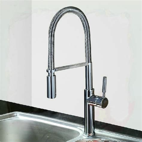 pull chromed brass kitchen faucet 2 type water out