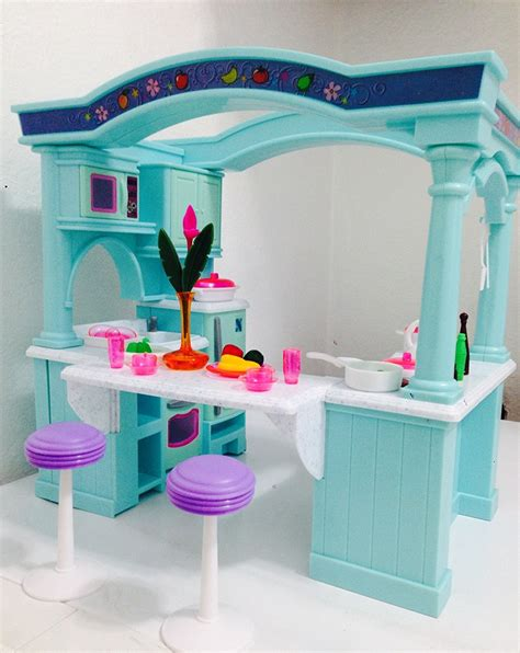 barbie doll house kit dollhouse doll furniture barbie princess playset toy house kitchen set kit lot ebay