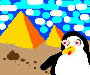 albino penguin is lost